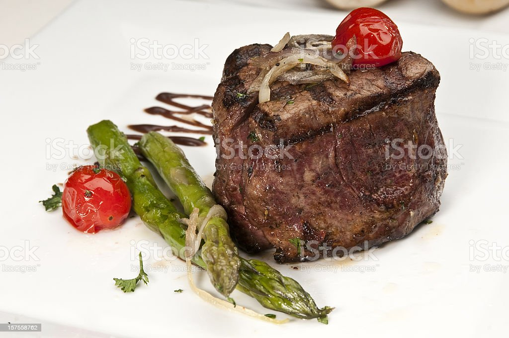 Braised Fillet Mignon stock photo