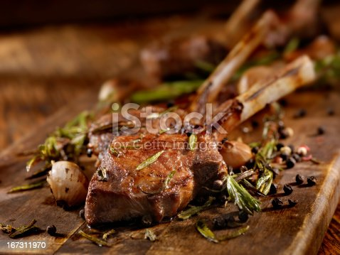 Rack of Lamb with Garlic, Rosemary and Peppercorns - Photographed on Hasselblad H3D2-39mb Camera