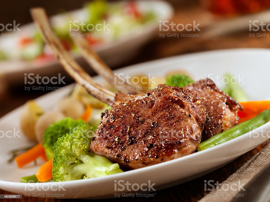 Braised Lamb Chops royalty-free stock photo