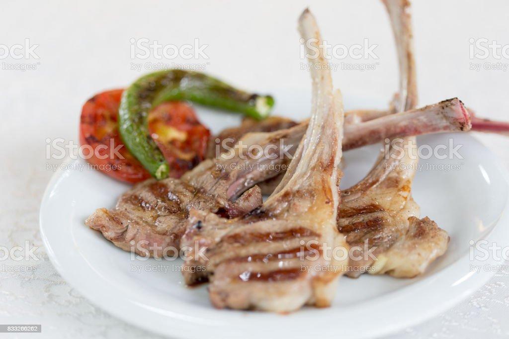 Braised Lamb Chops stock photo