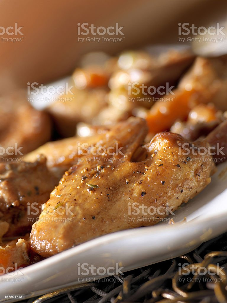 Braised Pheasant and Vegetables in Madeira royalty-free stock photo