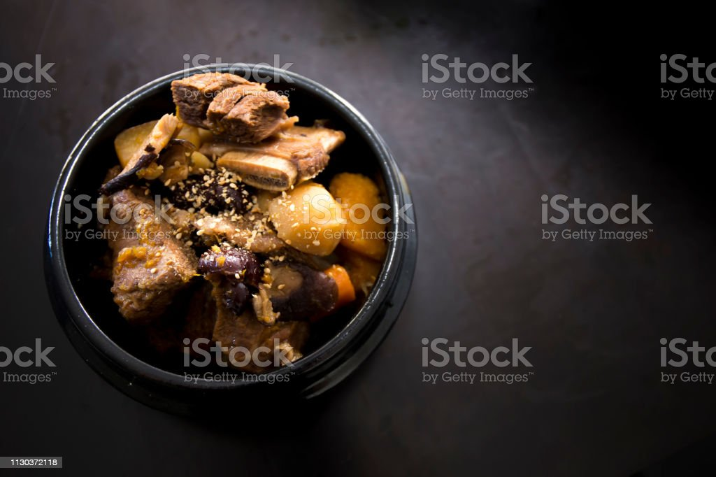 Braised Short Ribs - Galbi jjim stock photo