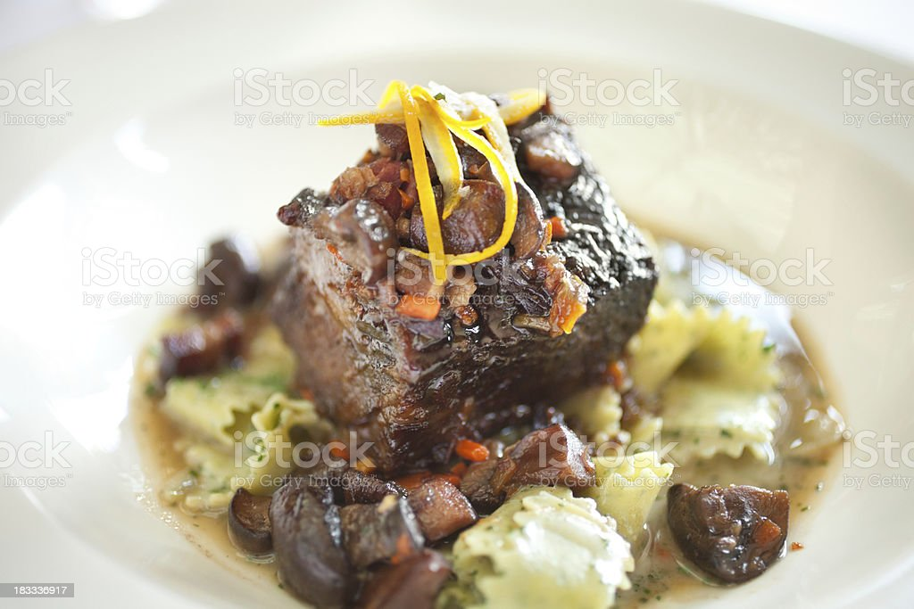 Braised veal stock photo