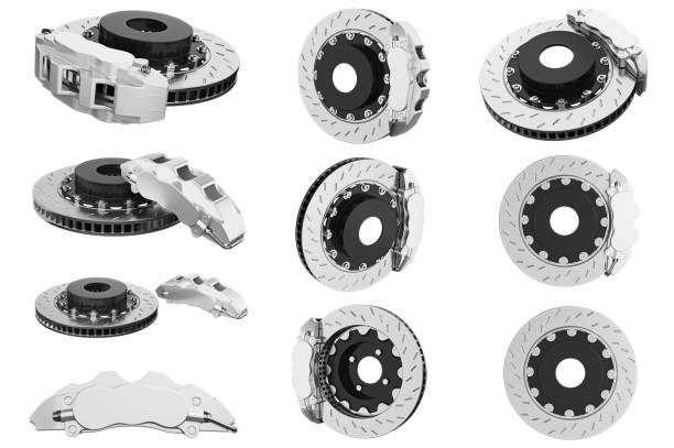 kit de frein voiture véhicule - disque de frein photos et images de collection