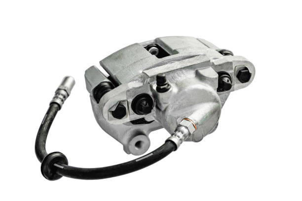 brake cylinder of the car on a white background stock photo