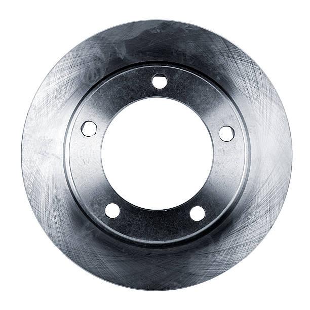 disque de frein isolé sur blanc - disque de frein photos et images de collection