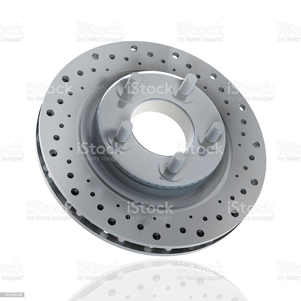 Brake disc isolated royalty-free stock photo