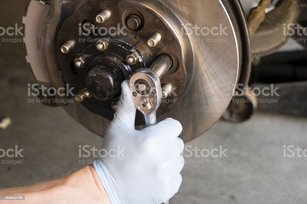 Brake Disc Rotor Repair royalty-free stock photo