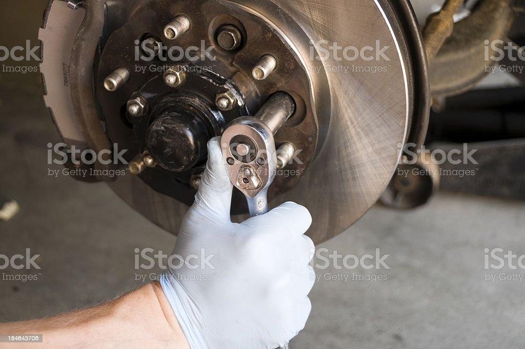 Brake Disc Rotor Repair stock photo