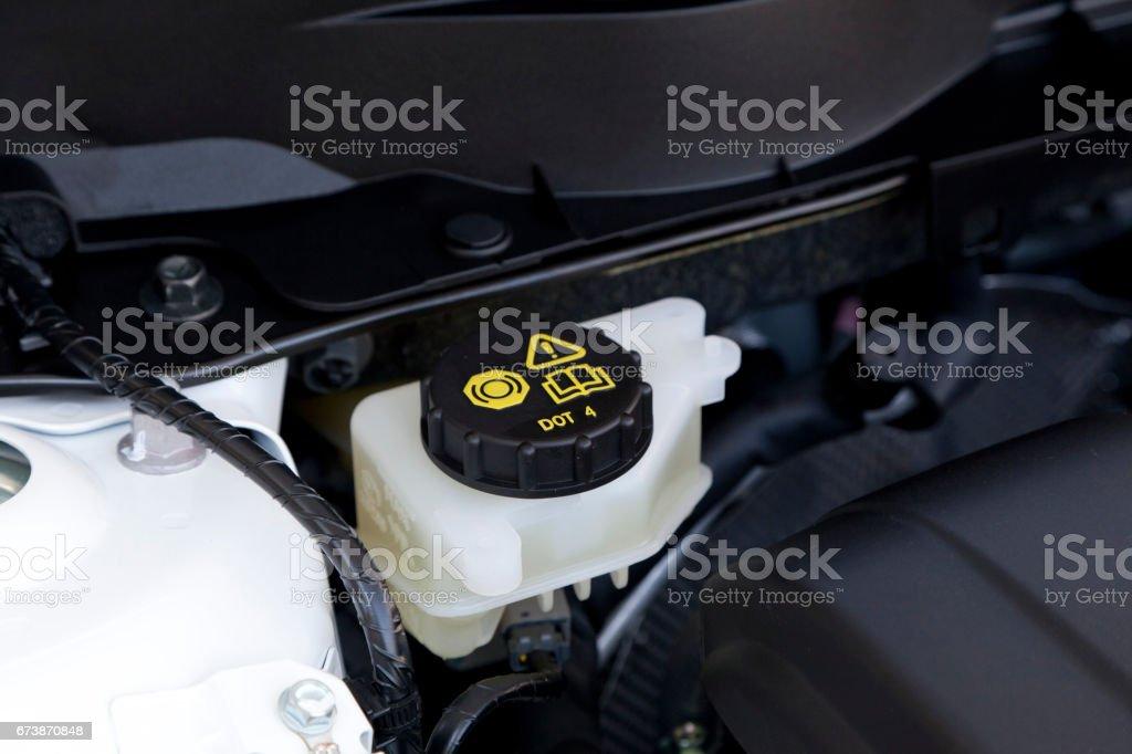 brake fluid cap stock photo
