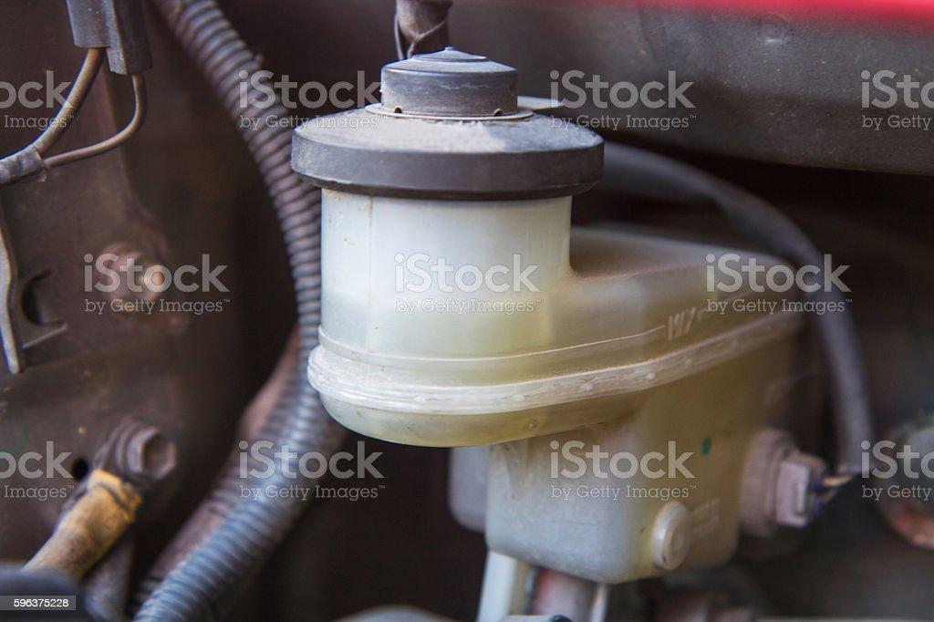 Brake oil tank stock photo
