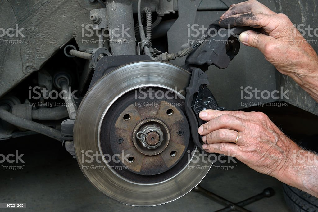 brake pads three royalty-free stock photo