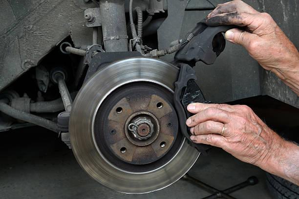 brake pads three stock photo