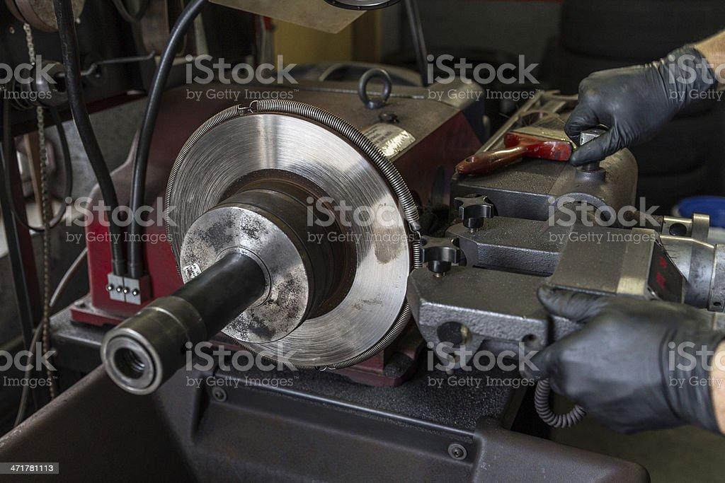 Brake repair royalty-free stock photo