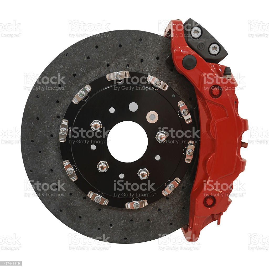 Brakesystem on white background with path royalty-free stock photo