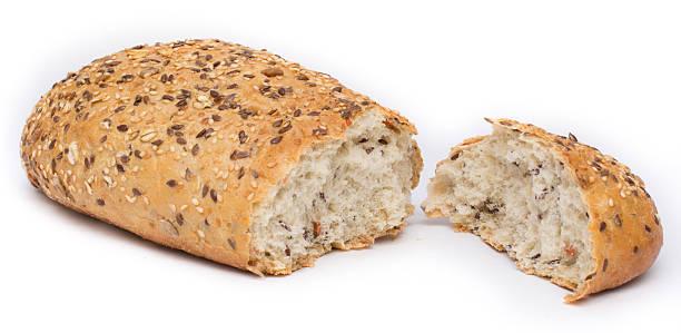 Kleie Brot aufgeteilt in zwei Teile – Foto