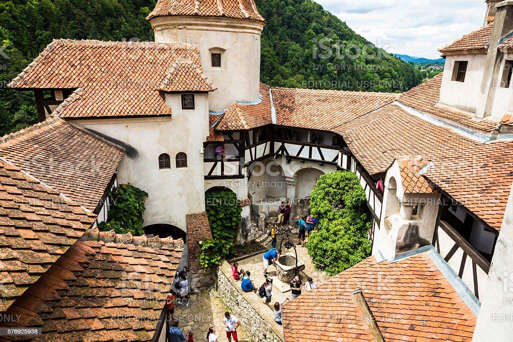 Bran Castle, Bran, in Transylvania, Romania stock photo