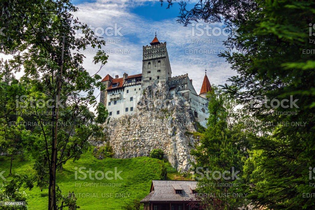 Bran Castle in Transylvania stock photo