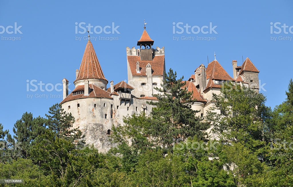 Bran castle of Vlad IV also known as Count Dracula royalty-free stock photo