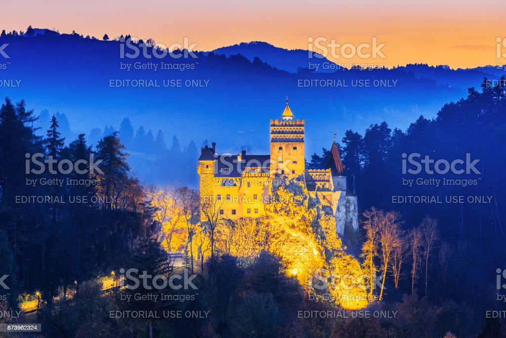 Bran Castle, Romania. stock photo