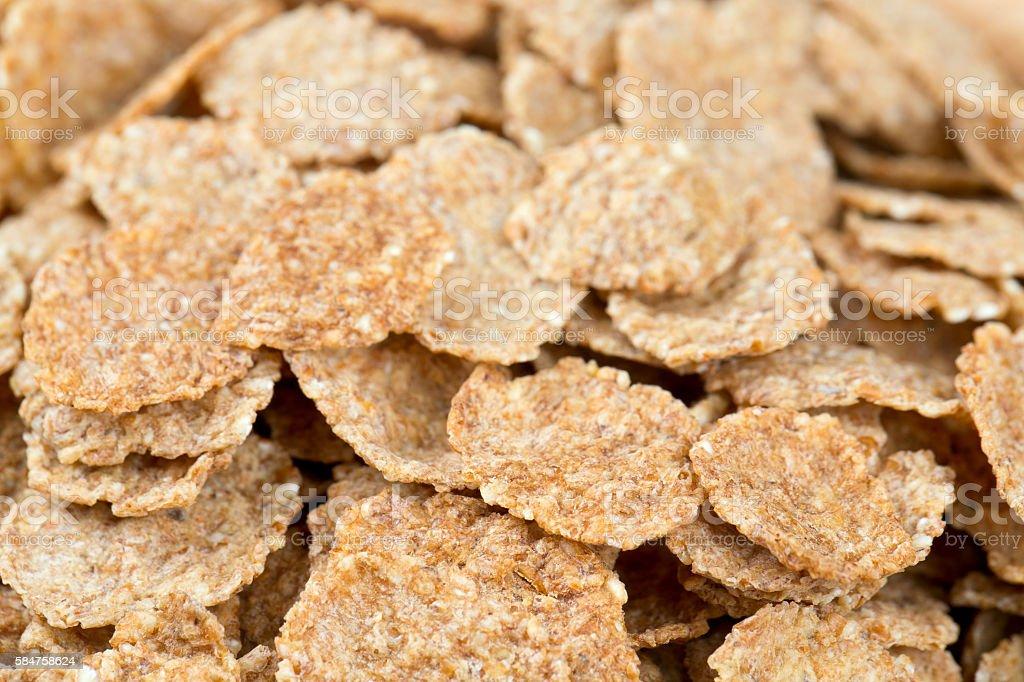 bran flakes background stock photo