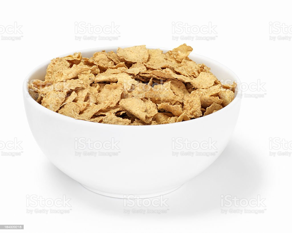 Bran Flakes Breakfast Cereal stock photo