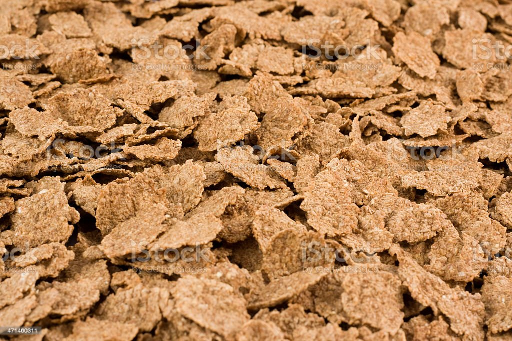 Bran Flakes close-up stock photo