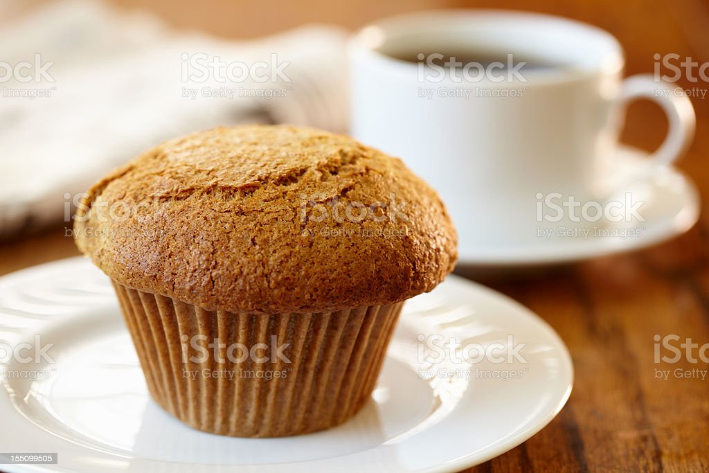 Bran muffin stock photo