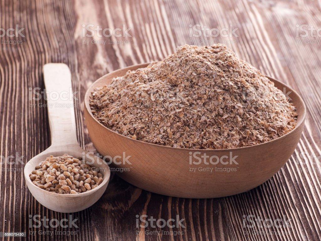 bran of wheat royalty-free stock photo