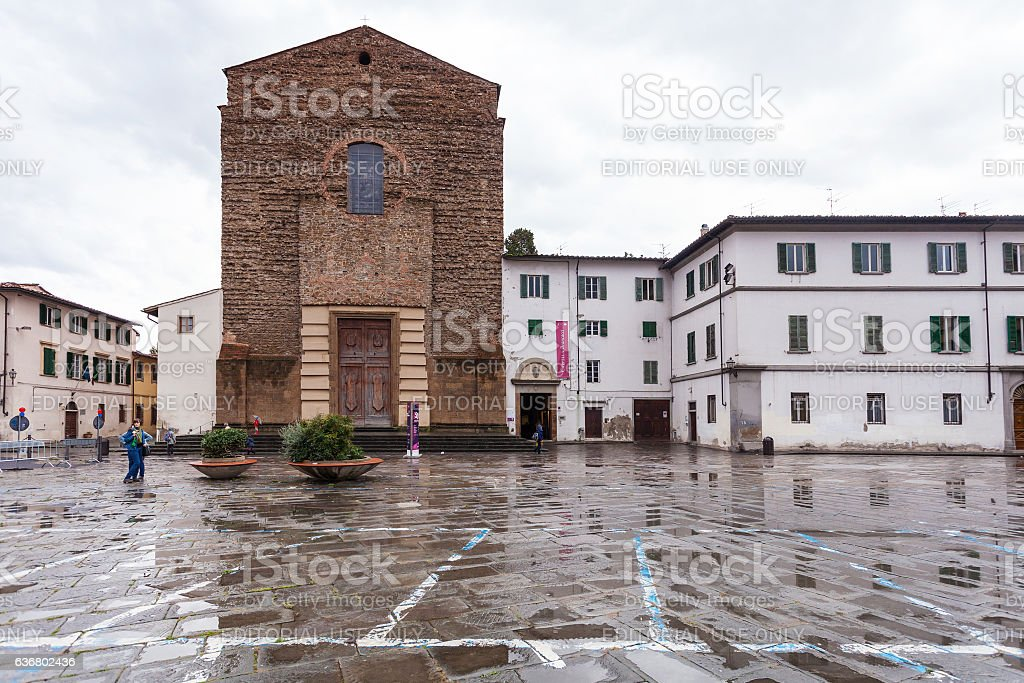Brancacci Chapel of Church Santa Maria del Carmine stock photo
