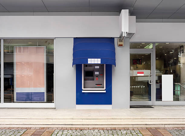 Branch Bank outside view of a branch bank. banks and atms stock pictures, royalty-free photos & images