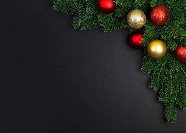 branch of a christmas tree - kreide farbe schreibtisch stock-fotos und bilder