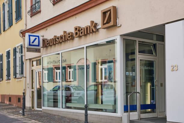 branch of Deutsche Bank in Eltville, Germany stock photo