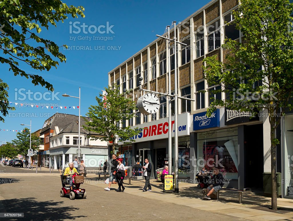Branch of Sports Direct in Lowestoft stock photo