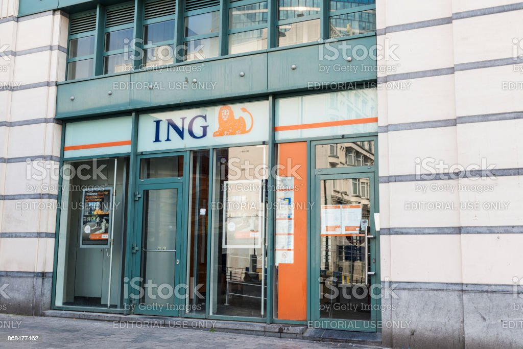 Branch of the ING bank in Brussels, Belgium