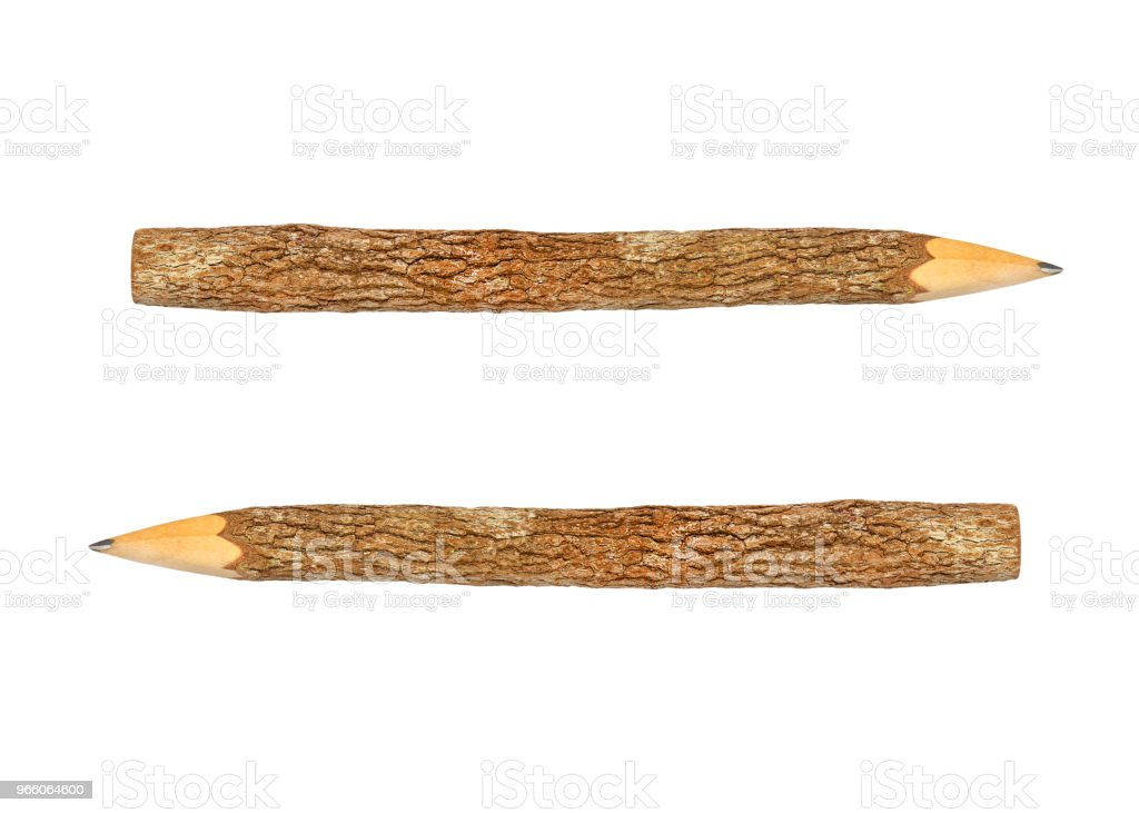 Branch pencil on a white background - Стоковые фото Арматура роялти-фри