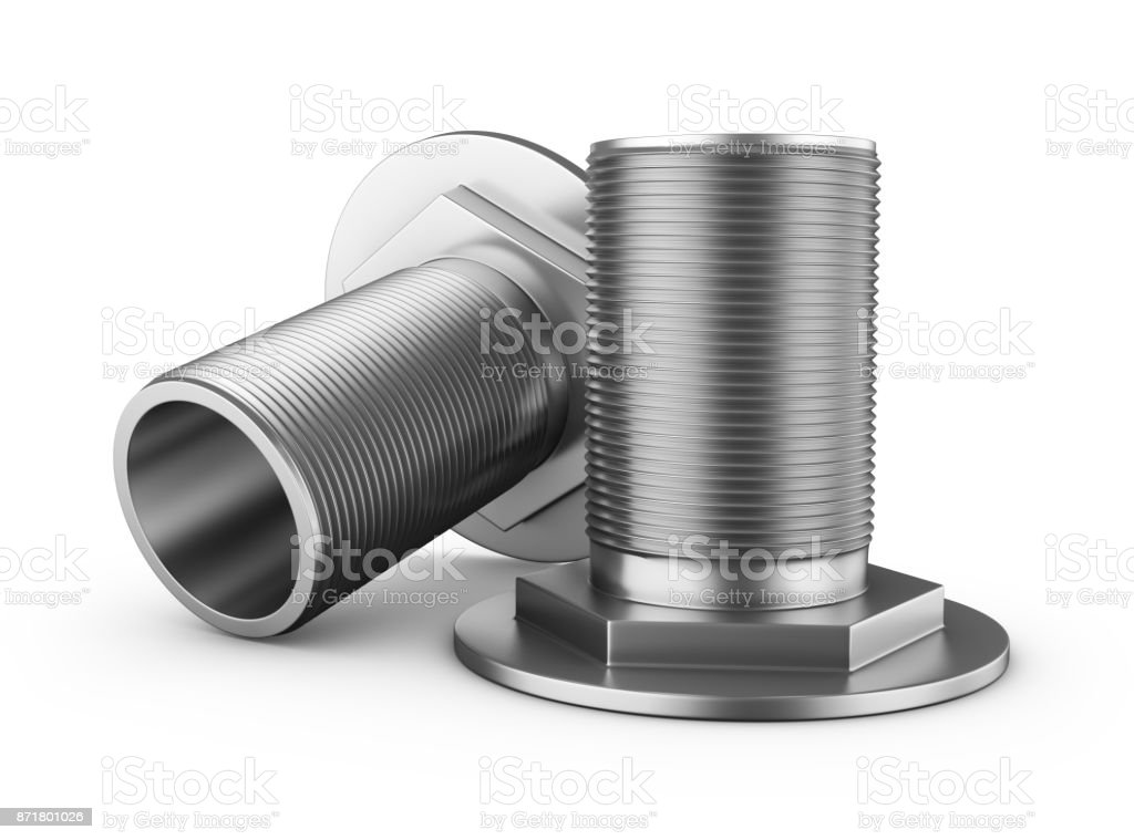 branch pipes with thread stock photo