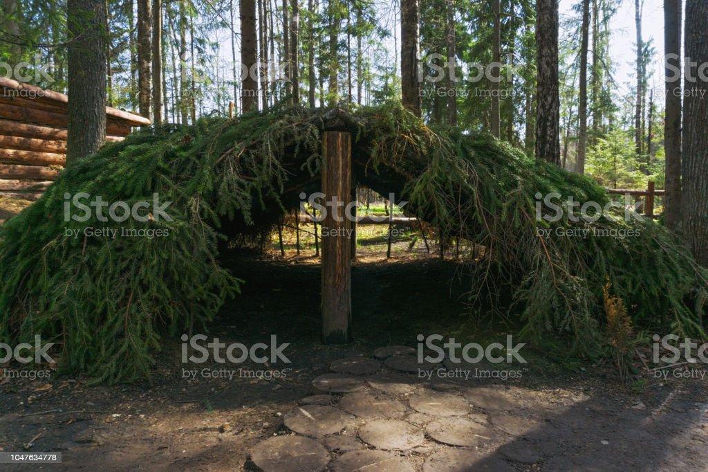 Branch shelter stock photo
