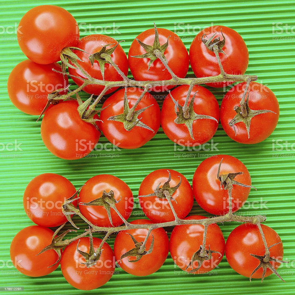 branches of red tomatoes royalty-free stock photo