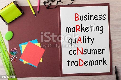 istock Brand Acronym Concept 983574488