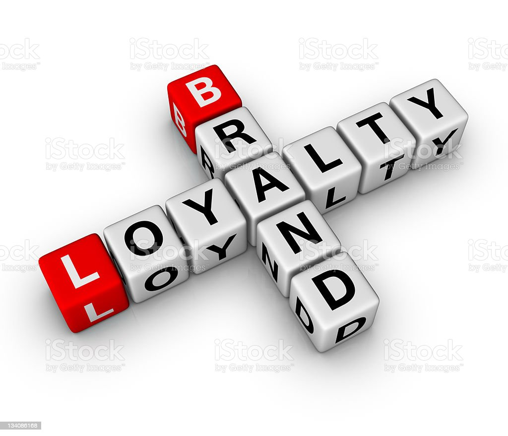 brand and loyalty stock photo