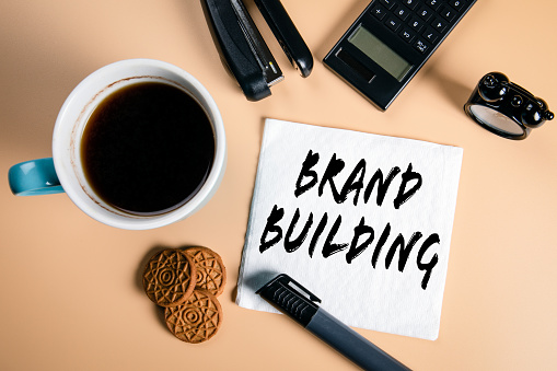 1150734727 istock photo Brand building. Business, marketing and management concept 1197863253