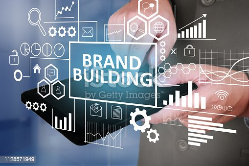 874270826istockphoto Brand Building, Business Marketing Words Quotes Concept 1128571949