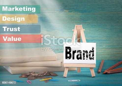 657955676 istock photo Brand, Business and strategic concept. notice board by the books and money, and notifications 656149672