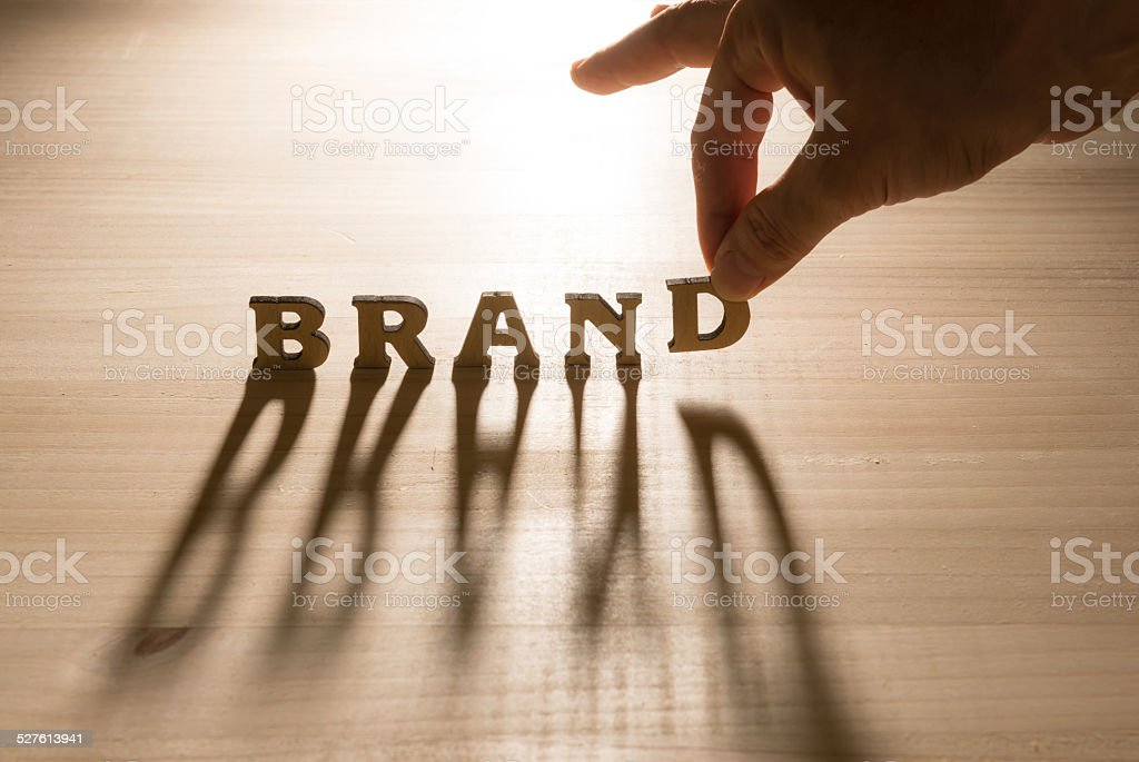 Brand concept and shadow stock photo
