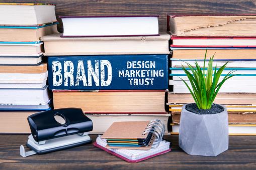 1150734727 istock photo Brand concept. Design, marketing and trust 1141673033