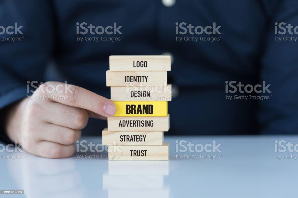 Concepto de marca - foto de stock