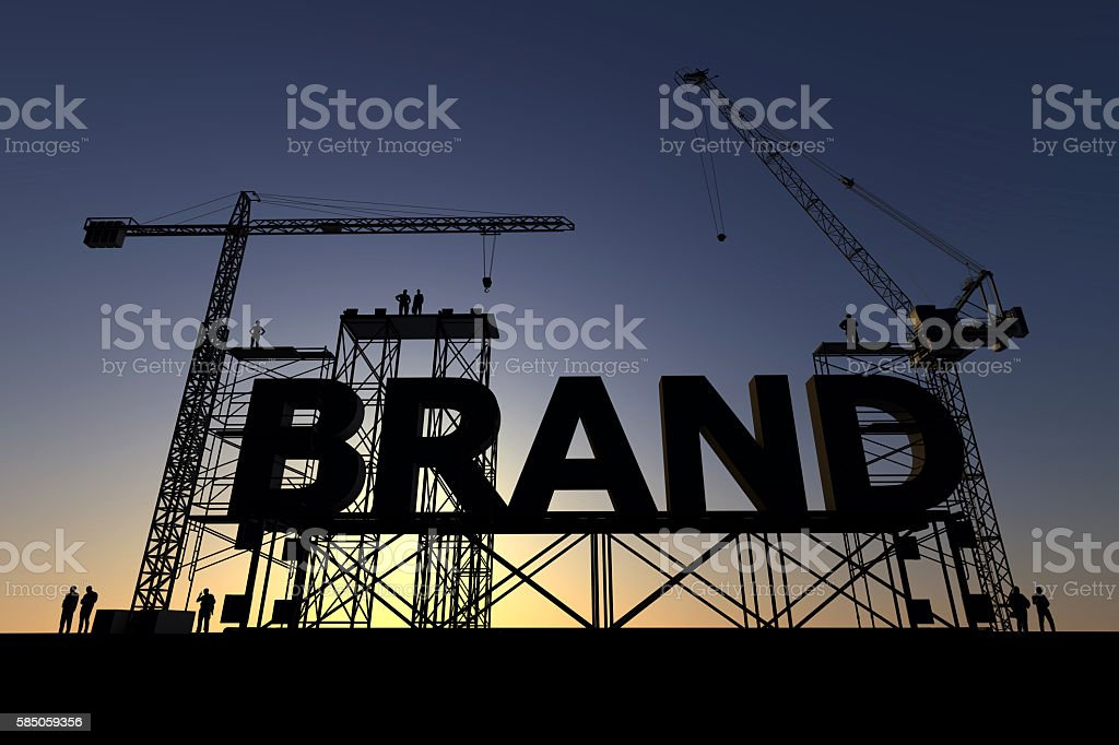Brand construction site – Foto