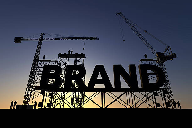 Brand construction site stock photo