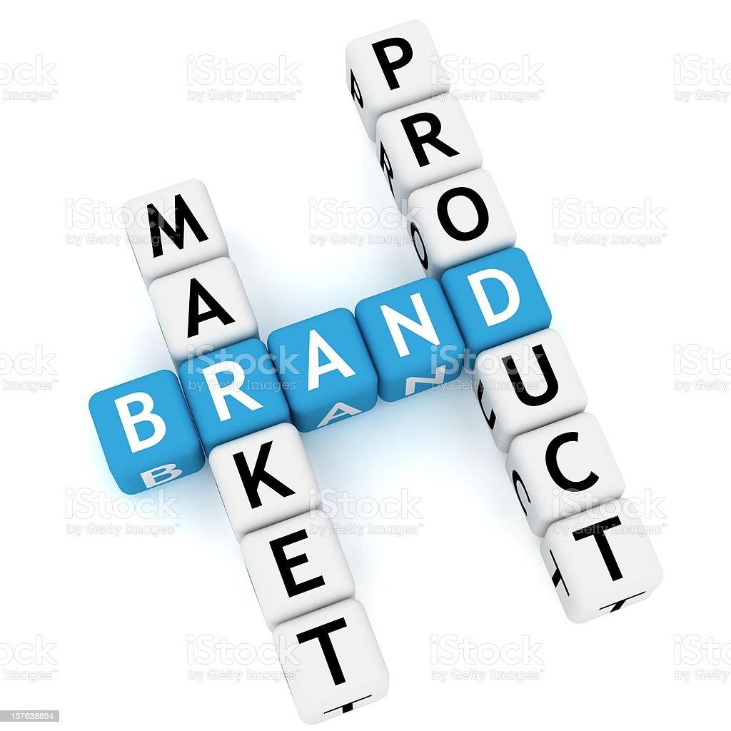 Brand Crossword royalty-free stock photo